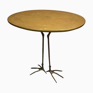 Ovaler Italienischer Vintage Traccia Tisch mit Vogelfüßen von Meret Oppenheim für Simon design d'autore, 1970er
