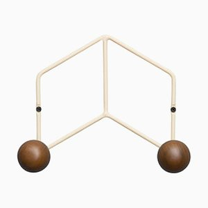 Epure Duo Cream & Teak Coat Rack by AC/AL Studio