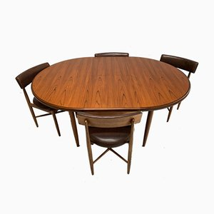 Dining Table & Chairs Set by Victor Wilkins for G-Plan, 1960s, Set of 5