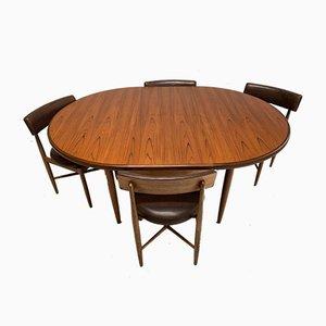 Juego de mesa y sillas de comedor de Victor Wilkins para G-Plan, años 60. Juego de 5