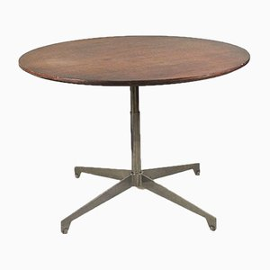 Adjustable Round Rosewood Dining Table, 1960s
