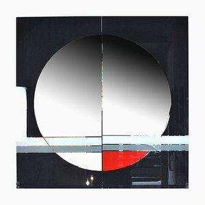 Large Mirror by Eugenio Carmi for Saporiti Italia, 1980s
