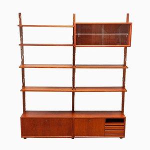 Libreria modulare Mid-Century in teak di Poul Cadovius, anni '50