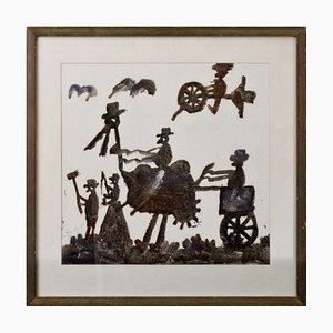 Schwedisches Ölgemälde von Nils Rundgren, 1961