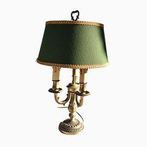 Lampe Bouillotte Vintage en Bronze Doré