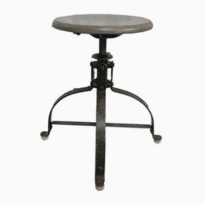 Industrial Adjustable Stool, 1950s