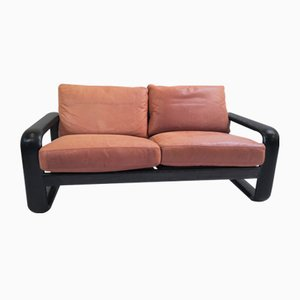 Vintage Leather Sofa by Burkhard Vogtherr for Rosenthal