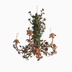 Italienischer Floraler Kronleuchter, 1950er, 2er Set