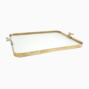 Italian Glass Tray by Cesare Lacca, 1950s