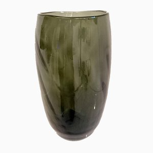 Swedish Art Deco Gray Glass Vase, 1930s