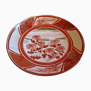 Antike Kutani Schale aus der Meiji Periode