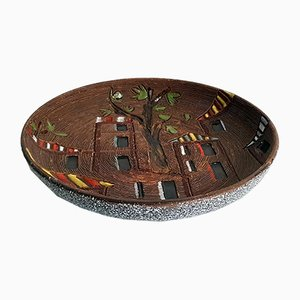 Italienische Keramik Schale, 1950er