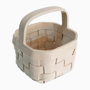 Italian Ceramic Basket, 1970s