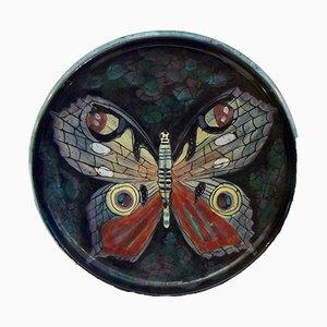 Italienische Keramik Butterfly Schale von San Polo, 1950er