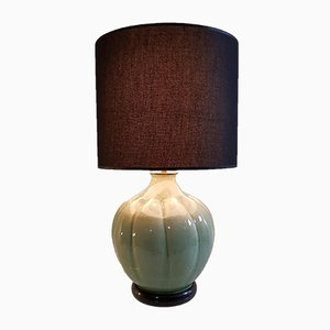 Italian Celadon Green Table Lamp, 1960s