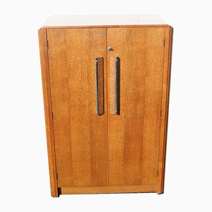 Art Deco Oak Wardrobe, 1930s