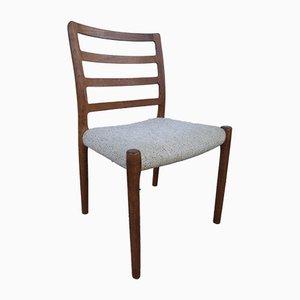 Sedie da pranzo nr. 85 in teak di Niels Otto Møller per J.L. Møllers, anni '60, set di 4