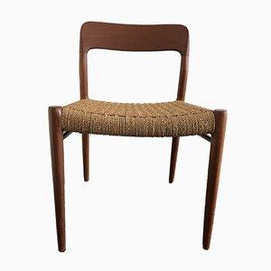 Sedie da pranzo nr. 75 in teak di Niels Otto Møller per J.L. Møllers, anni '60, set di 4