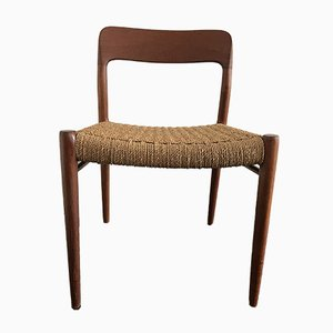 Teak 75 Dining Chairs by Niels Otto Møller for J.L. Møllers, 1960s, Set of 4