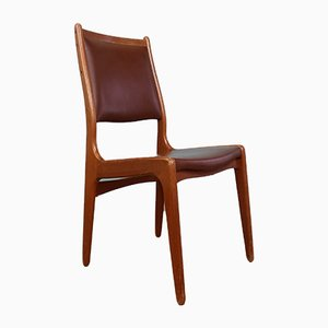 Danish Teak Dining Chairs by Erik Buch, 1960s, Set of 4