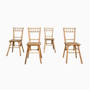 Brutalistische Esszimmerstühle, 1950er, 4er Set