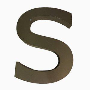 Insegna della lettera S vintage in metallo