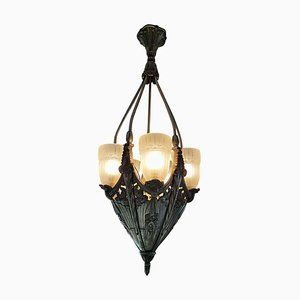 French Art Deco Chandelier, 1920s