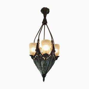Lámpara de araña francesa Art Déco, años 20