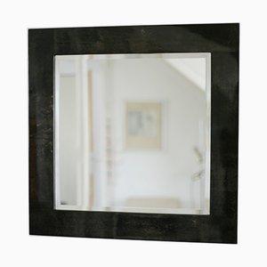 Italian Parchment Mirror by Aldo Tura, 1970s