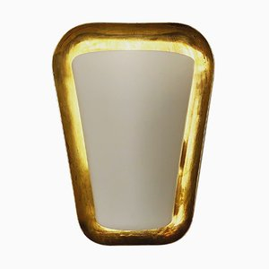 Brass & Glass Wall Light by Wilhelm Wagenfeld for Peill & Putzler, 1950s