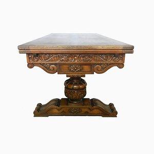 Table de Salle à Manger d'Époque Style néo-Renaissance en Chêne