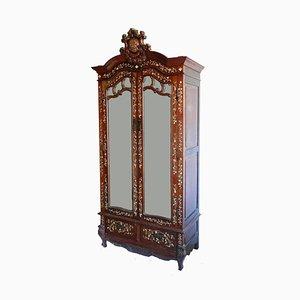 Antiker Chinoiserie Intarsie Schrank