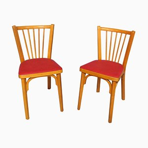 French Bistro Dining Chairs by Baumann France, 1950s, Set of 2