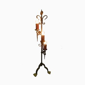 Spanish Wrought Iron Floor Lamp, 1960s