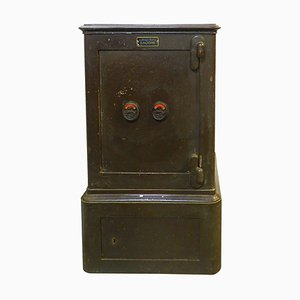 Antique French Steel Safe by Bauche