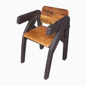 Antique French Brutalist Side Chair