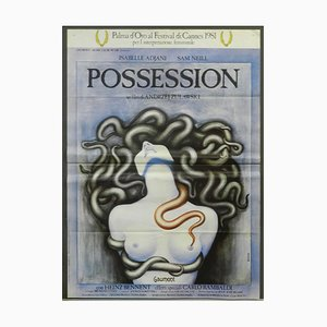 French Possession Movie Film Poster by Andrezej Zulawski, 1980s