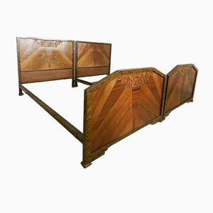 Art Deco Single Beds, 1930s, Set of 2