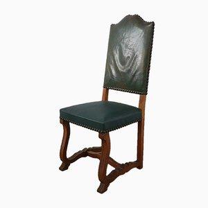 Französische Esszimmerstühle mit hoher Rückenlehne, 1920er, 6er Set