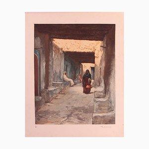 Stich von Marokko Straßenbild von Ch Manuel, 1920er