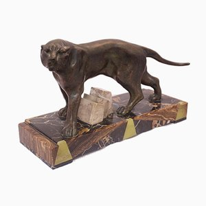 Art Deco Panther Sculpture, 1930s