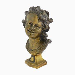 Französische Büste aus Bronze, 19. Jh