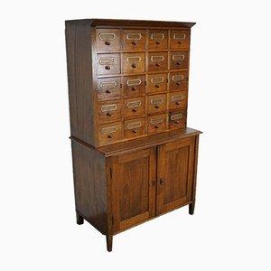 Mueble de farmacia alemán de haya, años 30