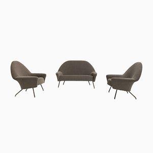 Sillones 770 y sofá de Joseph-André Motte para Steiner, 1958. Juego de 3