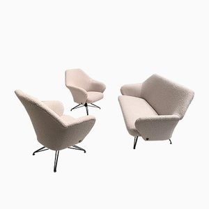 P32 Living Room Set by Osvaldo Borsani for Tecno, 1950s, Set of 3