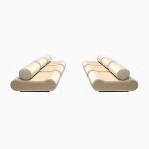 Sofás modulares esculturales minimalistas de Klaus Uredat para COR, años 70. Juego de 6