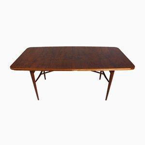 Mesa de comedor extensible vintage de palisandro de Robert Heritage para Archie Shine, años 50