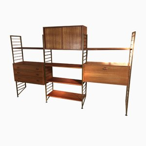 Bronzed Metal Wall Unit from Ladderax, 1968