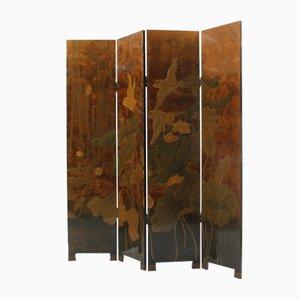 Divisorio Art Deco vintage in legno