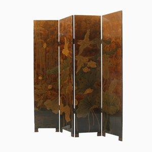 Biombo Art Déco vintage de madera